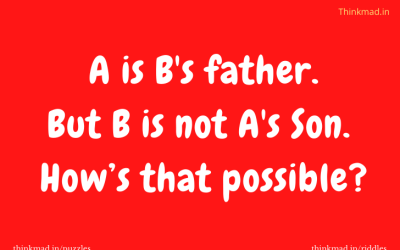 A is B's father, but B is not A's Son.  How is that possible?