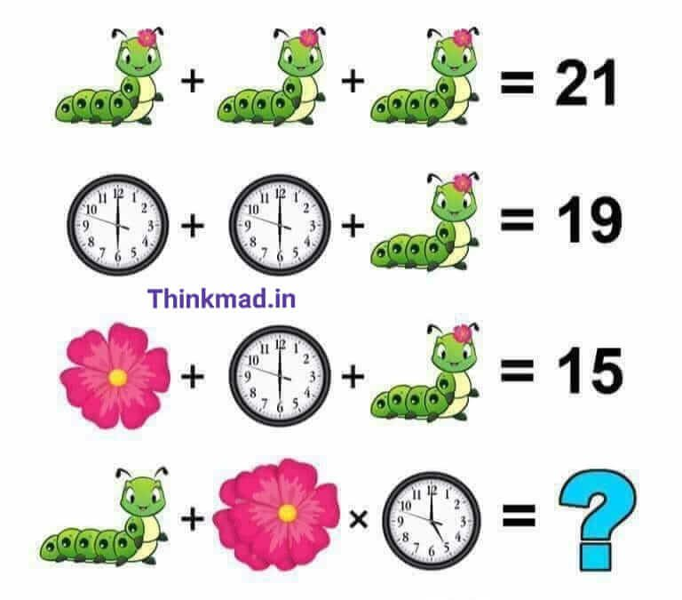 Caterpillar, Clock and Flower Puzzle