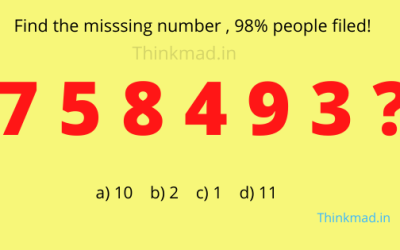 Find the missing number in the sequence 7 5 8 4 9 3 ?