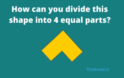 Divide this shape into 4 equal parts Puzzle