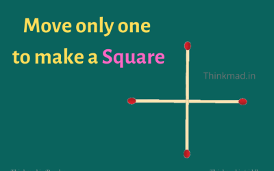 Move one Match to make a Square answer | Tricky puzzle