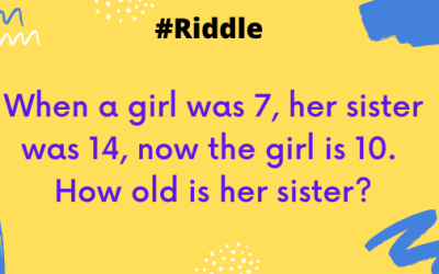 When a girl was 7, her sister was 14, now the girl is 10. How old is her sister now?