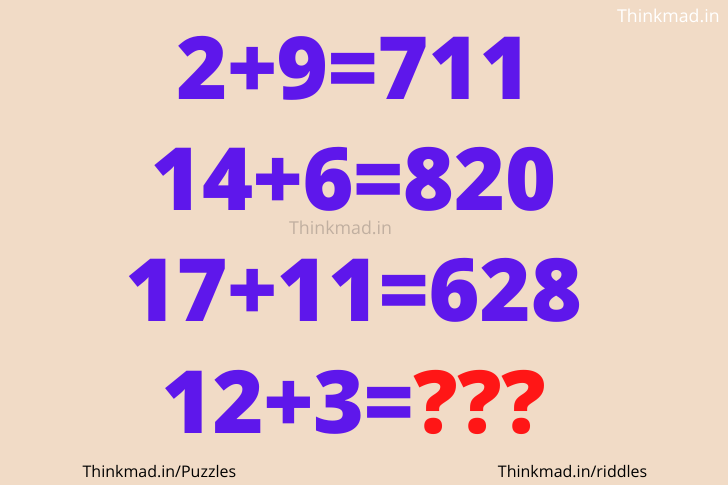 2+9=711 hard number puzzle with answer